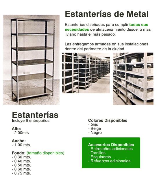 Estanterías de Metal | Muebles Aurora